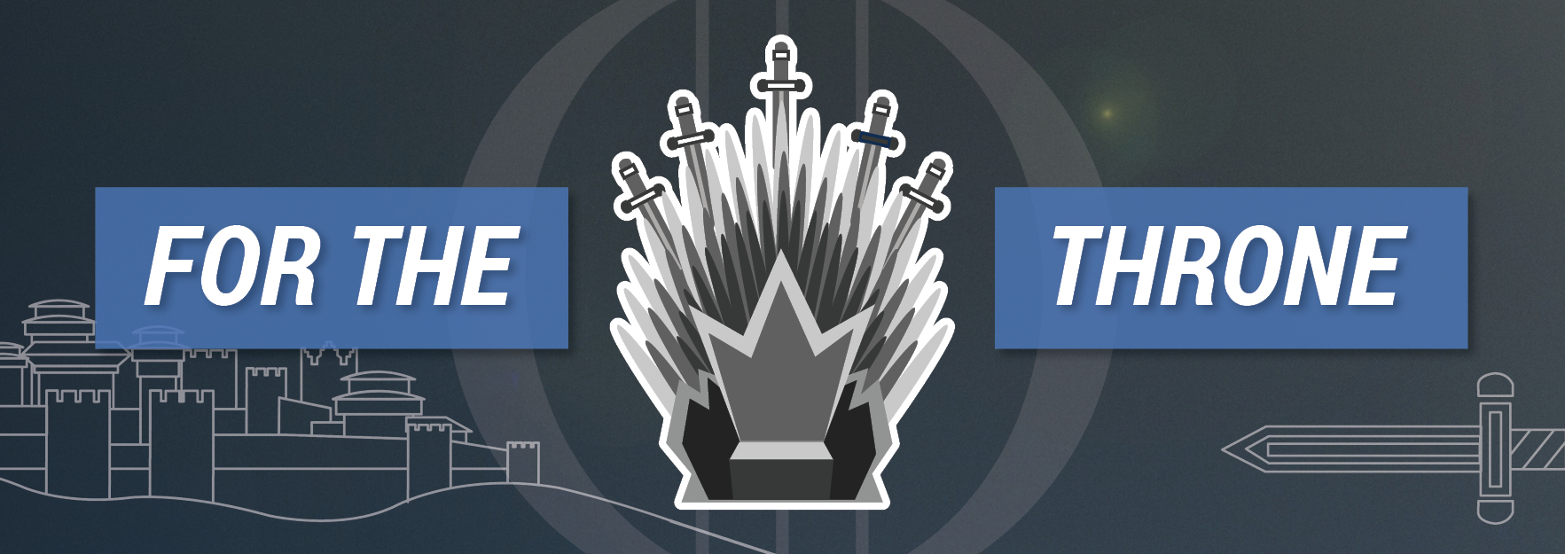 Stylised Iron Throne from Game of Thrones