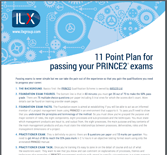 11 Point Plan for Passing your Prince2&reg exams